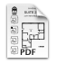Floorplan for Dufferin Liberty Centre – 843 sq. ft.
